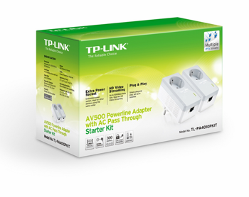 Adapter PLC (PowerLine Communication) TP-Link TL-PA4010P AV500 Nano Pass Through (Twin Pack)