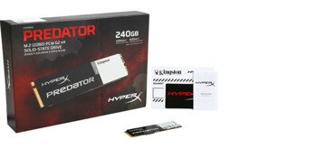 Dysk SSD 240GB Kingston HyperX Predator M.2 transfer: 1400/600 MB/s