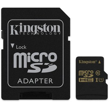 Karta pamięci microSDHC 16GB Class10 UHS-I transfer:90/45 MB/s Kingston