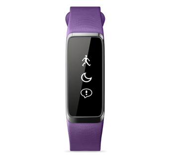 "Smartband Acer Liquid Leap-  1"" (128x32) Touchscreen/Bluetooth/LE/IPX7/Waterproof/ Supports IOS/Android/ Purple"