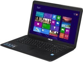 "Laptop Asus X751MA-DH21TQ Pentium N3540/17.3"" TouchScreen/8GB/1TB/DVD/Win 10"