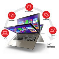 "Laptop Toshiba P55W-B5224 I7-4510U/15.6"" FHD TouchScreen/16GB/SSD 256GB/x360/Win 8.1"