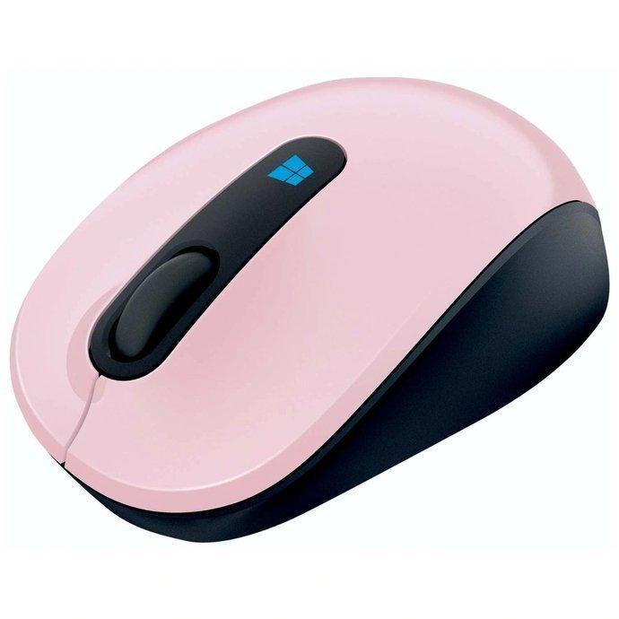 Mysz bezprzewodowa Microsoft Sculpt Mobile różowa (light