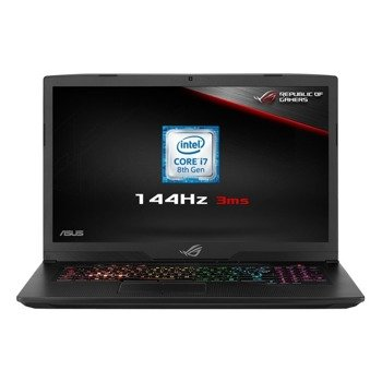 "Laptop Asus ROG GL703GS-E5011T/UK i7-8750H/17.3"" FHD AntiGlare/16GB/1TB+SSD 256GB/BLKB/GeForce GTX1070 8GB/Win 10"